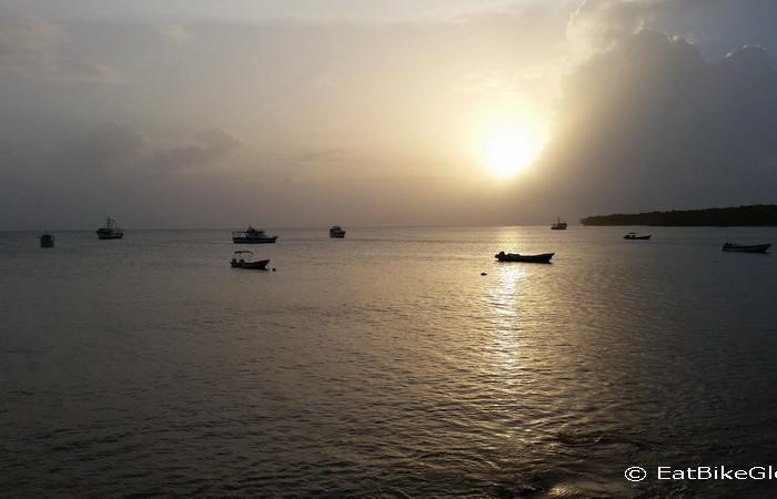 Nicaragua - Sunset from Los Delfines Balcony, Little Corn Island, Nicaragua