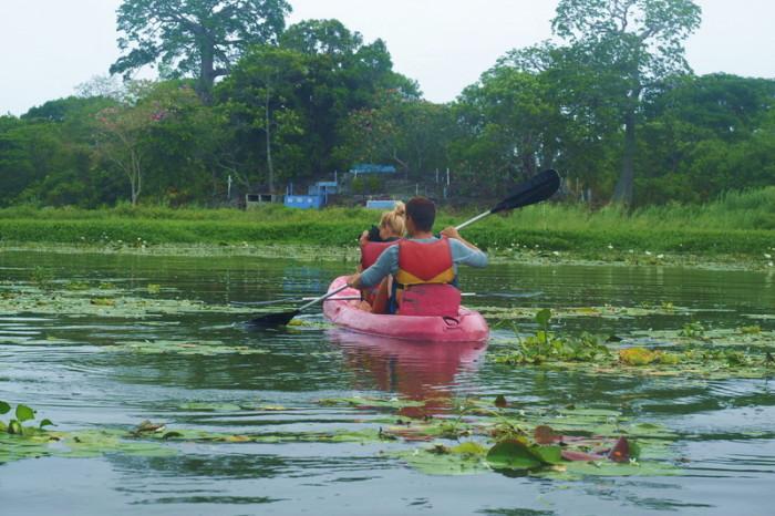 Nicaragua - Paty and Simon kayaking the Granada Islets, Granada, Nicaragua