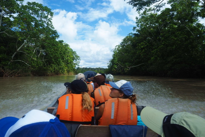 Amazon - On our way to Nicky Lodge - it was a 3.5 hour boat ride from Lago Agrio