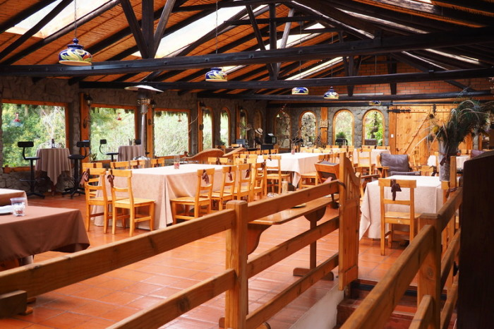 Ecuador - The main dining room, Hacienda El Hato
