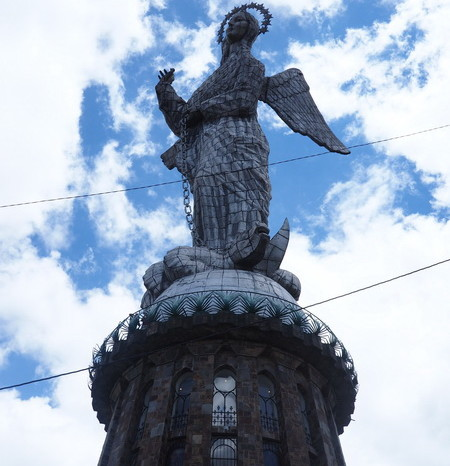 "Ecuador - The statue of the ""Winged Madonna"",  El Panecillo, Quito"