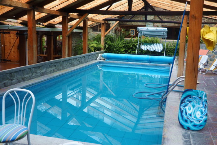 Ecuador - The indoor pool at Hacienda El Hato