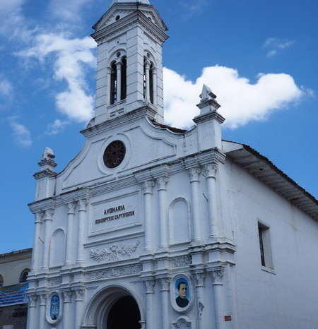 Ecuador - One of the many lovely churches in Cuenca