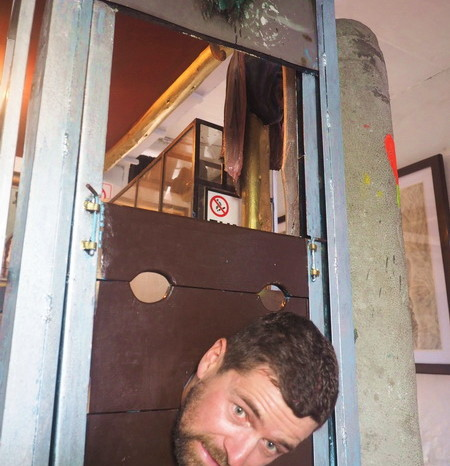 Ecuador - David with his head in the guillotine, Museum of Extreme Art, Cuenca