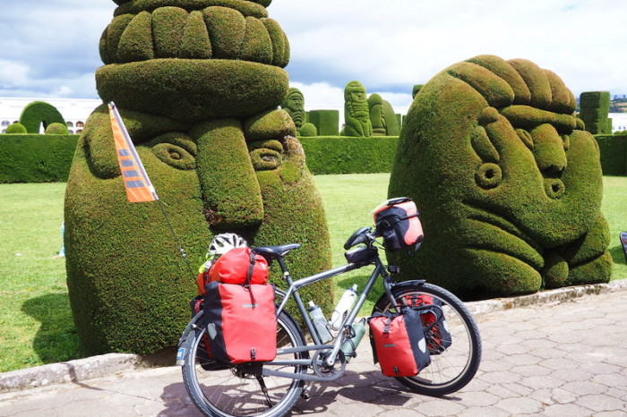 Ecuador - Cool topiary art at the Cemetery in Tulcan