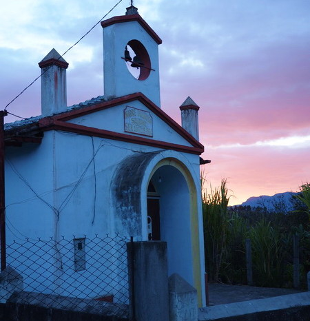 Ecuador - Cute roadside church in Ona