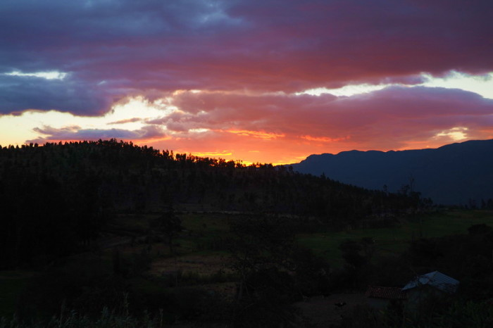 Ecuador - The sunset at Ona