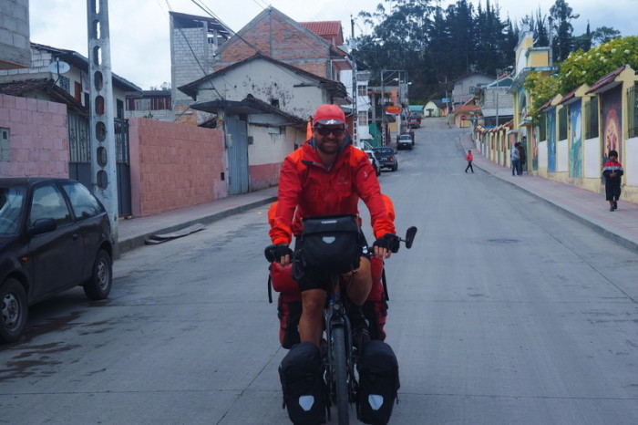 Ecuador - David cycling the back streets of Saraguro