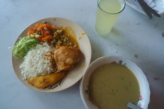 Ecuador - A typical Ecuadorian lunch for only $2.50!