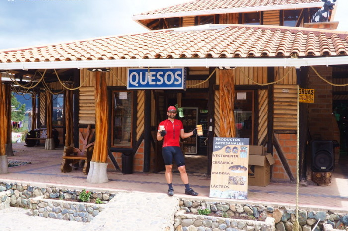 Ecuador - At the top of one big climb we found a local Cheese shop!
