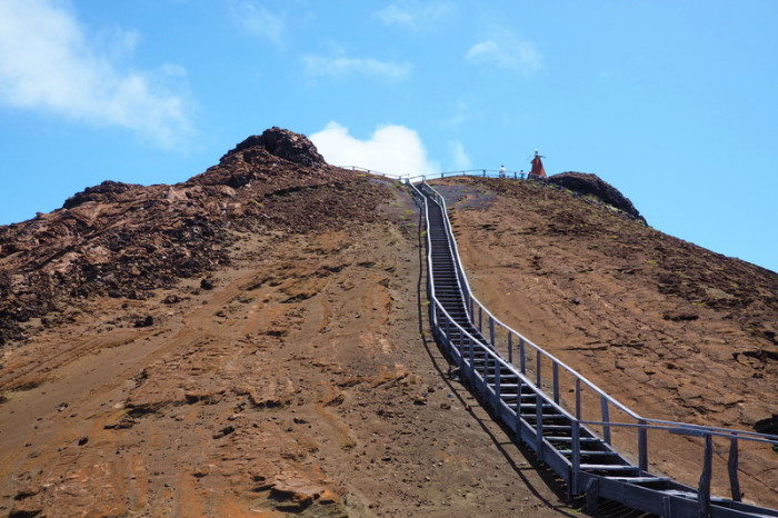 Galapagos - The last few stairs to the lookout!
