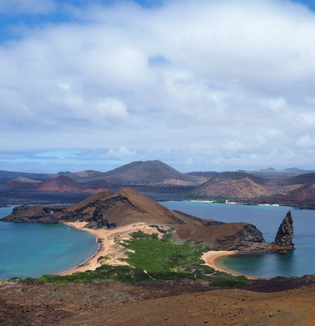Galapagos - View from the lookout on Bartolome Island