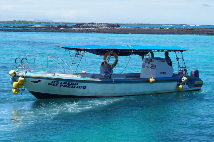 Galapagos - Our boat for the Tintoreras Tour, Isabela Island