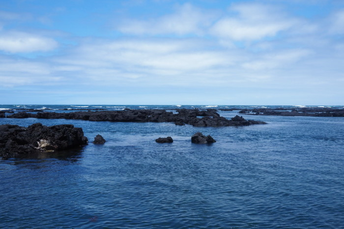 Galapagos - Our location for snorkeling at the Lava Tunnels, Isabela Island