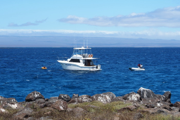 Galapagos - Our boat to North Seymour Island