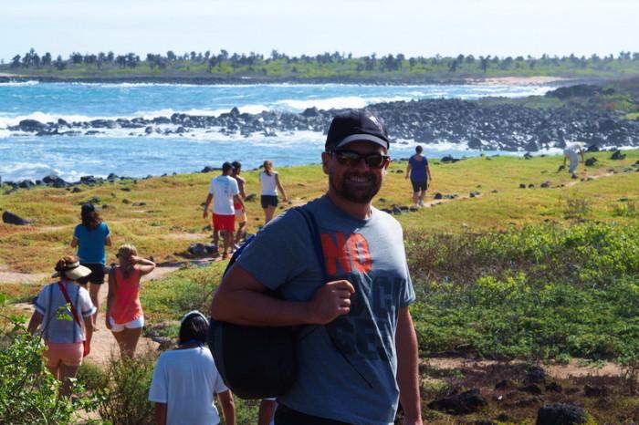 Galapagos - David at Los Perros Beach, Santa Cruz Island