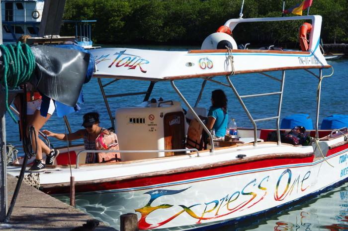 Galapagos - Our boat for the Santa Cruz Bay Tour