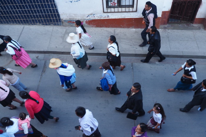 Peru - Religious procession in Caraz
