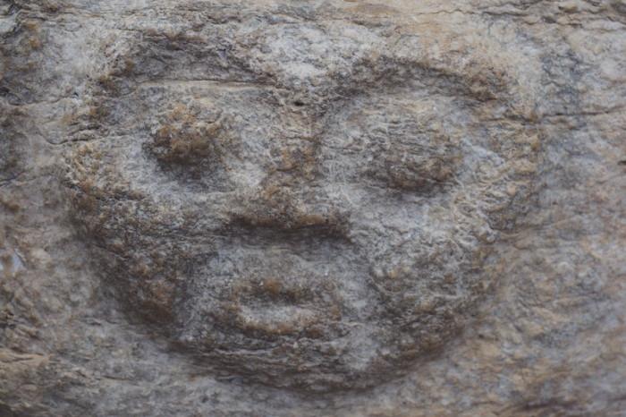 Peru - Stone carving, Kuelap