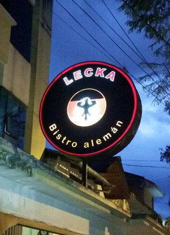 Ecuador - Look what we found - a German Restaurant in Loja!