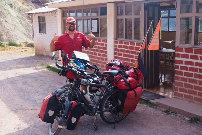 Peru - David outside La Cabana