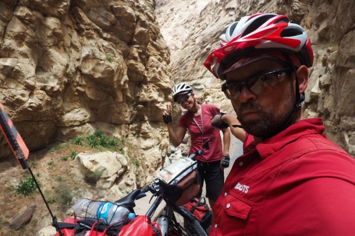 Peru  - Canon del Pato selfie!