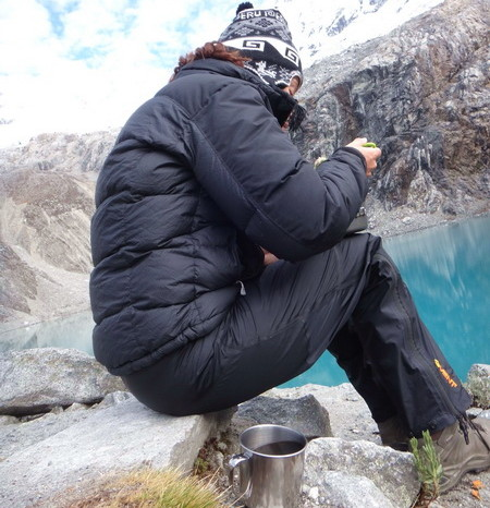 Laguna 69  - Jo enjoying brekkie and coffee with a view
