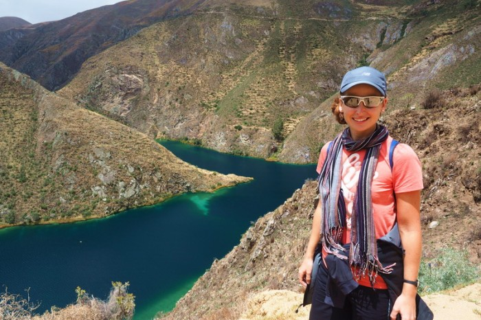 Peru -  Jo overlooking Huallhua — at Nor Yauyos-Cochas Landscape Reserve