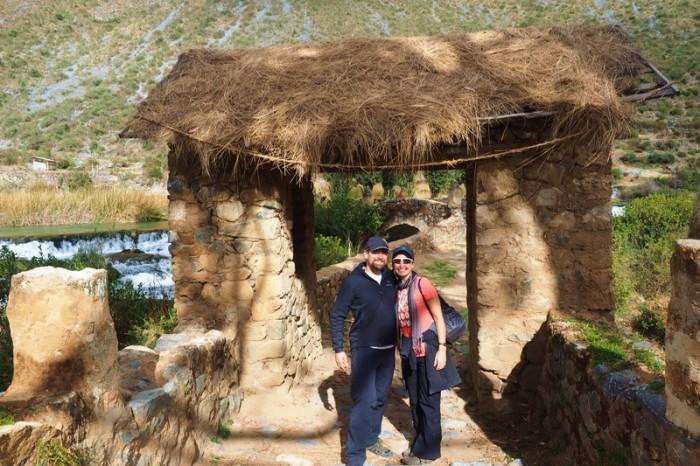 Peru -  The old Colonial Bridge at Huancaya