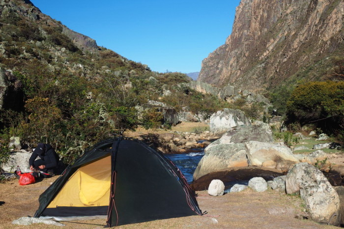 Santa Cruz Trek - Our campsite on Day 3