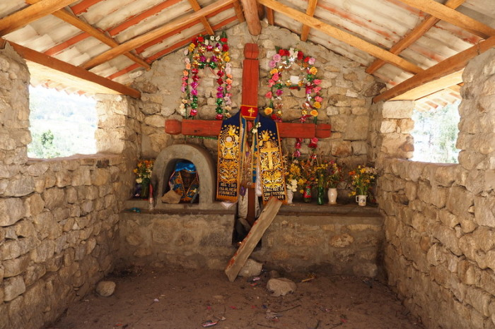 Santa Cruz Trek - This lovely shrine marked the end of the trek
