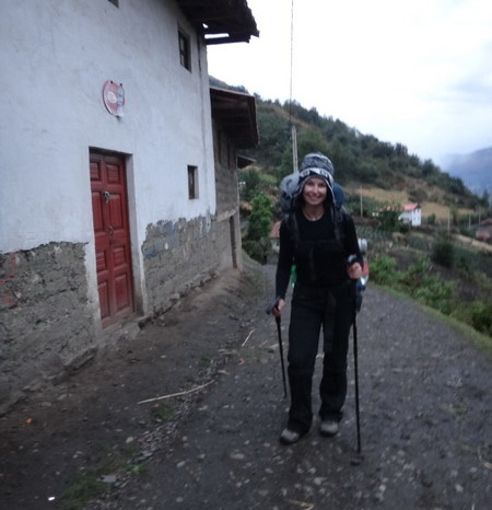 Santa Cruz Trek - We didn't start hiking until 5pm and it took us a good 1.5 hours to pass through the initial villages