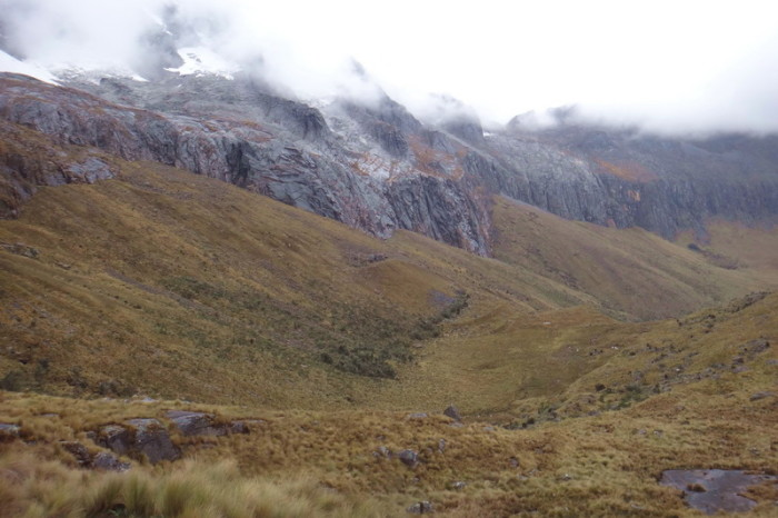 Santa Cruz Trek - The view on the way up to Punta Union - pretty miserable weather