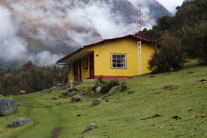 Santa Cruz Trek - The refugio where we registered for the Santa Cruz Trek. You can camp here