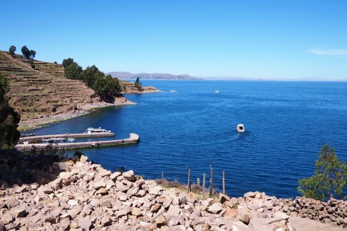 Peru - Harbour, Taquile Island, Lake Titicaca