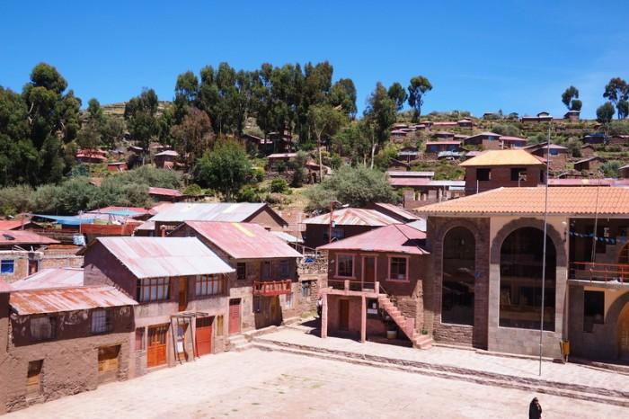 Peru - Main square, Taquile Island, Lake Titicaca