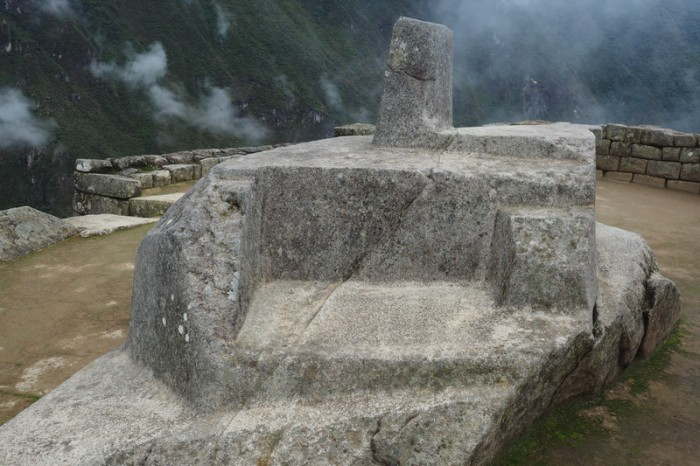 Peru - Inti Watana stone, Machu Picchu