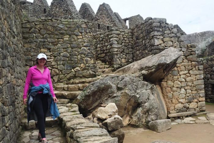 Peru - Aleecia exploring Machu Picchu