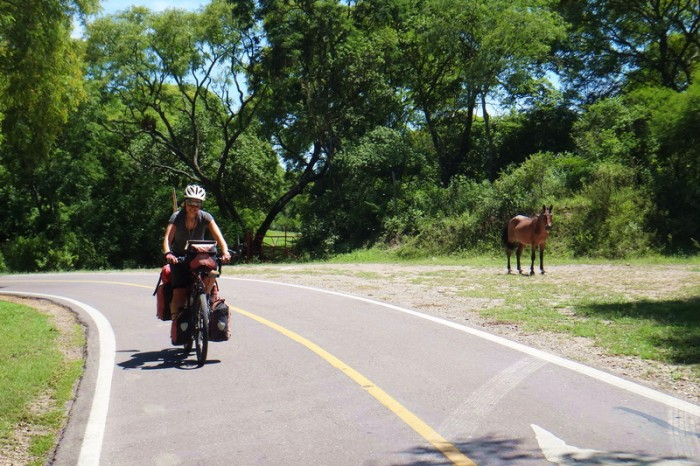 Argentina - Enjoying the countryside on Highway 9 on the way to Salta