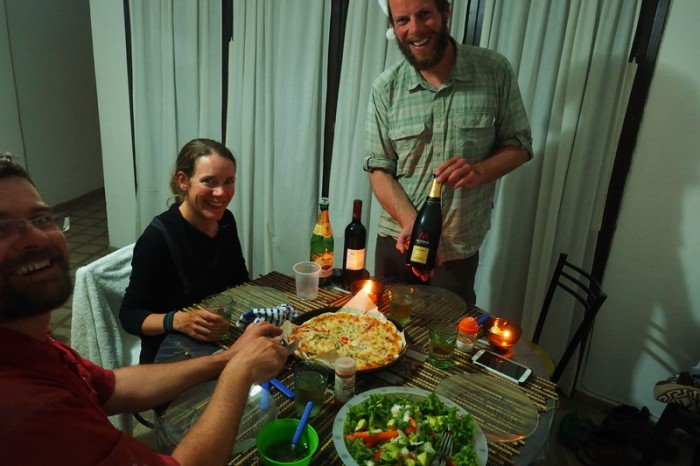 Argentina - Celebrating New Year at our apartment in Salta!