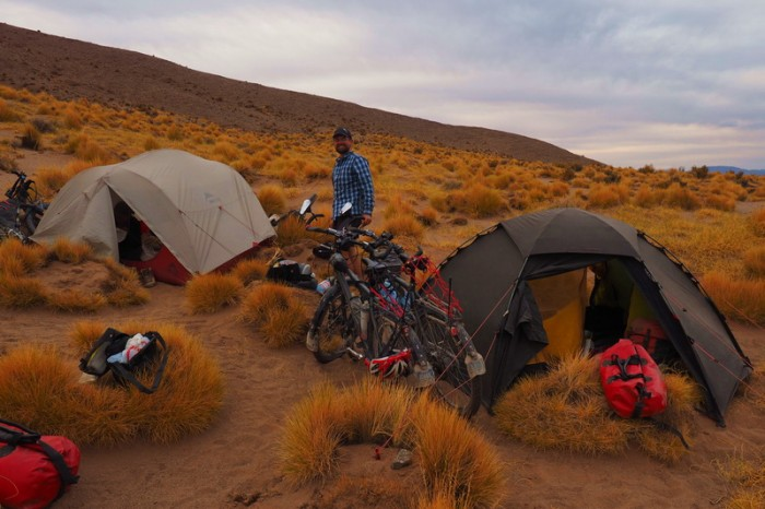 Argentina - Our campsite on the first night (93kms from the Jama Pass)