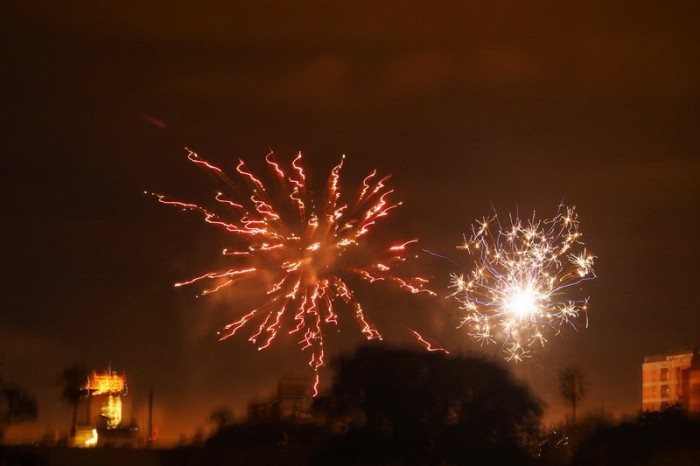 Argentina - Fireworks in Salta for New Year!