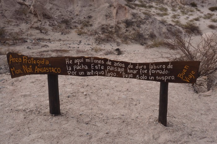 Argentina - This area was declared the Natural Monument Angastaco in 1995