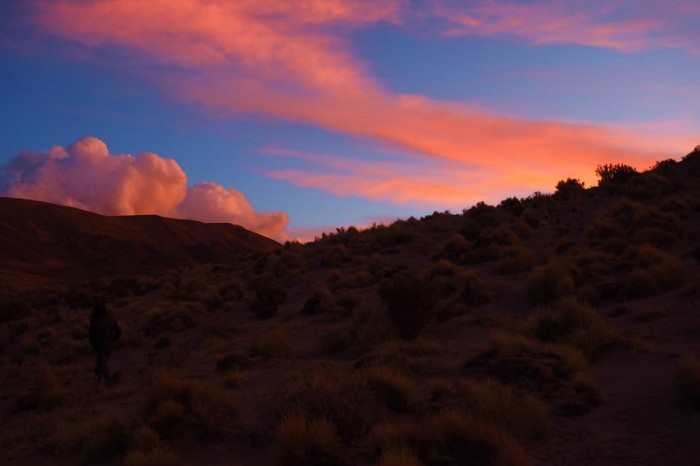 Argentina - Sunset from our campsite on the first night