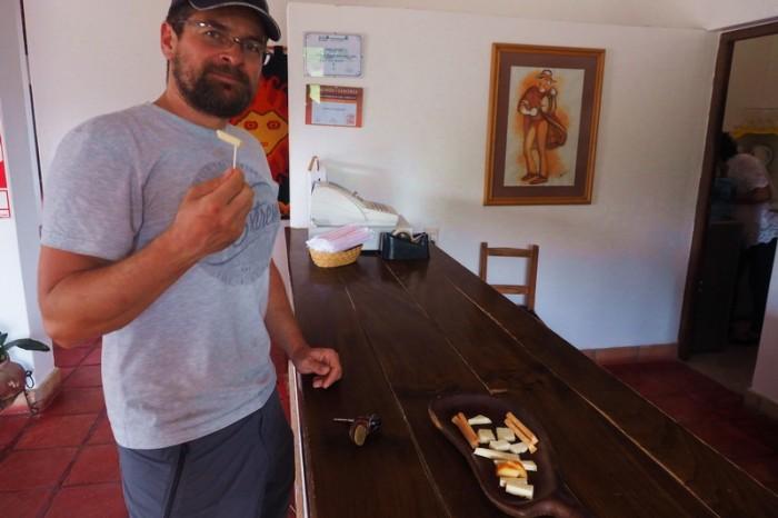Argentina - Goat cheese tasting at Cafayate Goats (Cabras de Cafayate)
