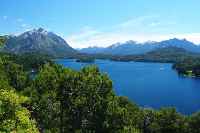 Argentina - Views of Lake Moreno while cycling the Circuito Chico, Bariloche