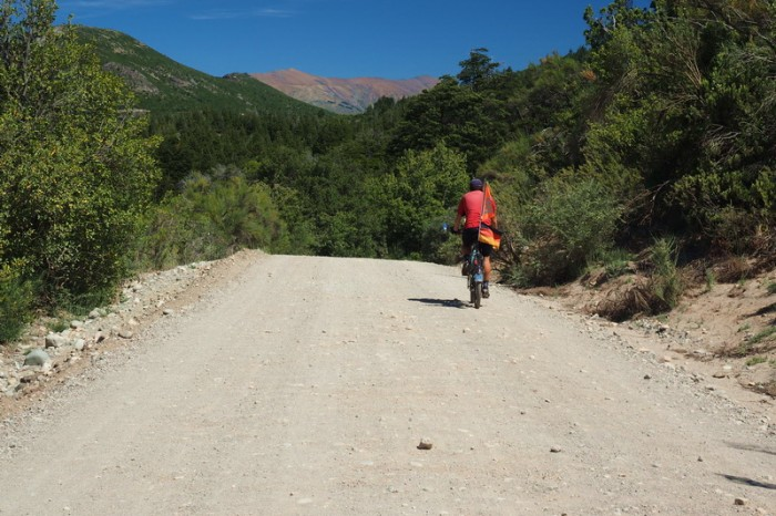 Argentina - David cycling the back roads of Bariloche