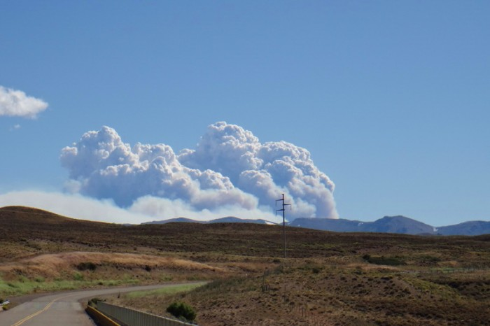 Argentina  - On our way to Esquel - there appeared to be bush fires ahead