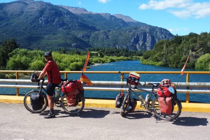 Argentina - Crossing the River Futaleufú near the border