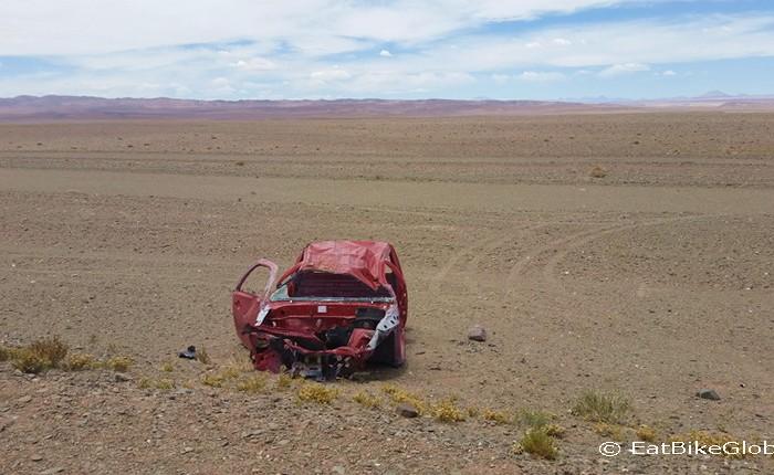 Argentina - Nasty car crash ... near the Jama Pass